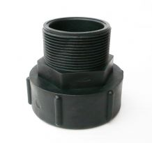 "IBC ADAPTER.Converts S75X6 Coarse Male Buttress to 2"" BSP Male Fine Thread"